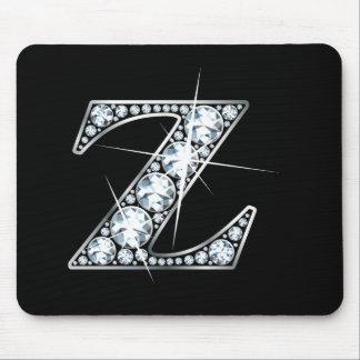 """Diamante Bling Mousepad de """"Z"""""""
