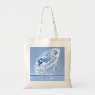 Diamante - bolso de abril Birthstone Bolsa Tela Barata