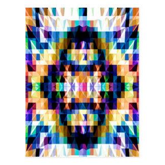 Diamante brillante de Raibow - mandala V6 de la Tarjeta Postal