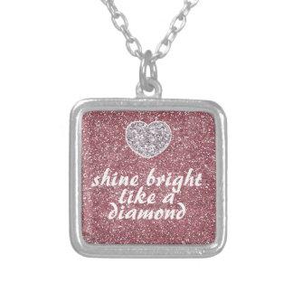 Diamante brillante del brillo rosado del brillo pendientes personalizados