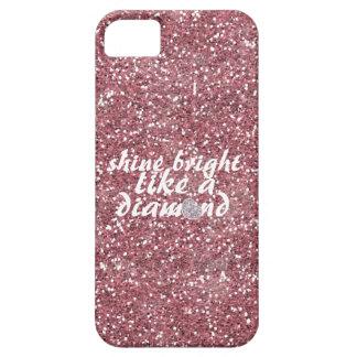 Diamante brillante del brillo rosado del brillo iPhone 5 protector