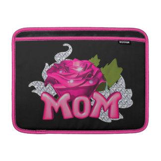 Diamante color de rosa de la mamá y del tatuaje funda  MacBook