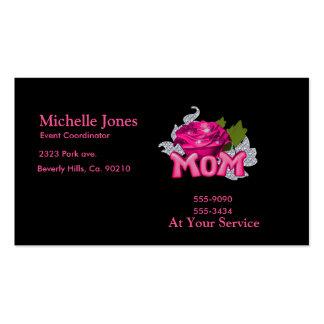 Diamante color de rosa de la mamá y del tatuaje ro tarjetas de visita
