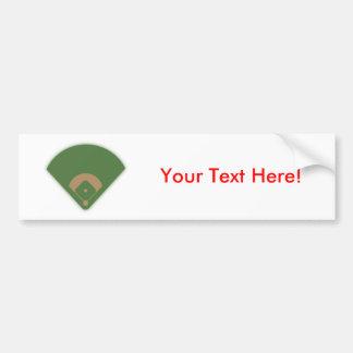 Diamante de béisbol: etiqueta de parachoque