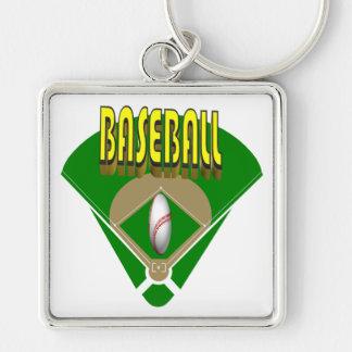 Diamante de béisbol llavero