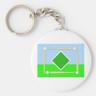 Diamante de béisbol llavero personalizado