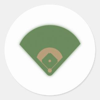 Diamante de béisbol: pegatina redonda