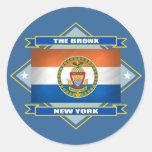 Diamante de Bronx Etiqueta Redonda
