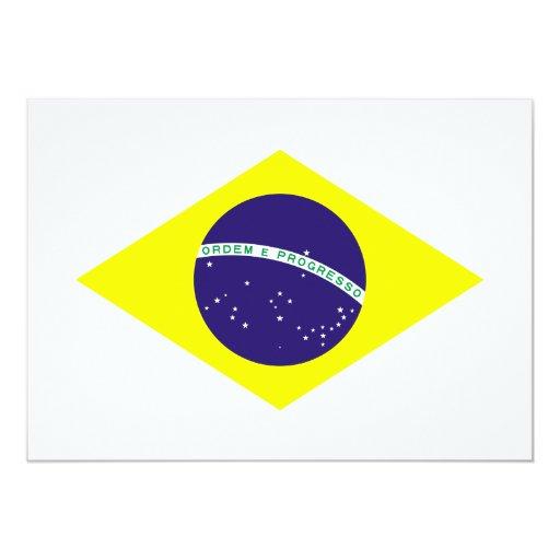 Diamante de la bandera del Brasil Invitación 12,7 X 17,8 Cm