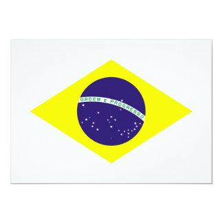 """Diamante de la bandera del Brasil Invitación 5"""" X 7"""""""