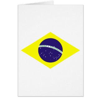 Diamante de la bandera del Brasil Tarjeta De Felicitación