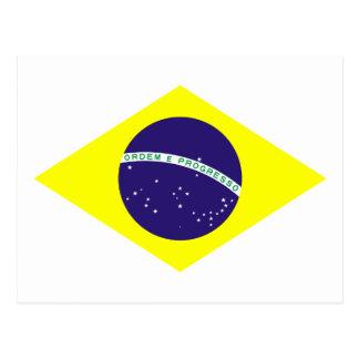 Diamante de la bandera del Brasil Tarjetas Postales