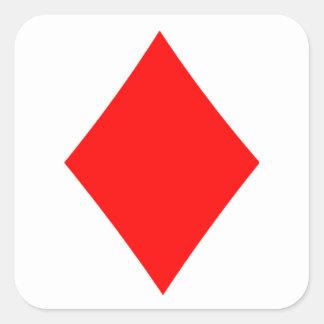 Diamante de la habitación del póker pegatina cuadrada