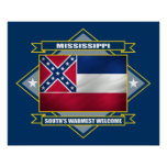 Diamante de Mississippi Posters