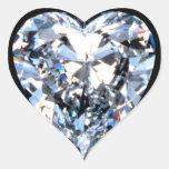 Diamante del AMOR Pegatina De Corazón
