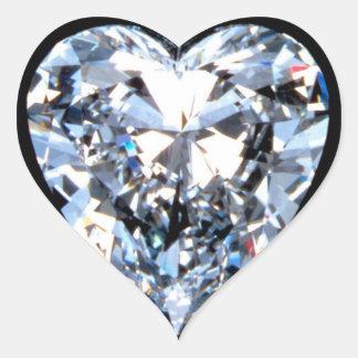 Diamante del AMOR Pegatina En Forma De Corazón