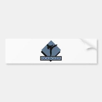 Diamante del azul de Kickboxer Pegatina Para Auto