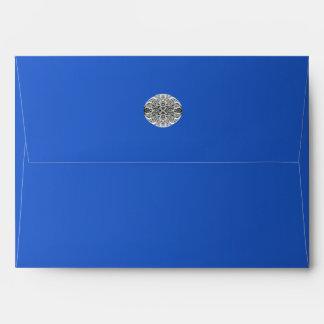 Diamante del azul real del zafiro sobre