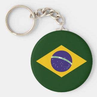 Diamante del Brasil - emblema de la bandera brasil Llavero Personalizado
