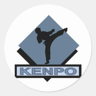 Diamante del bue de Kenpo Pegatina Redonda