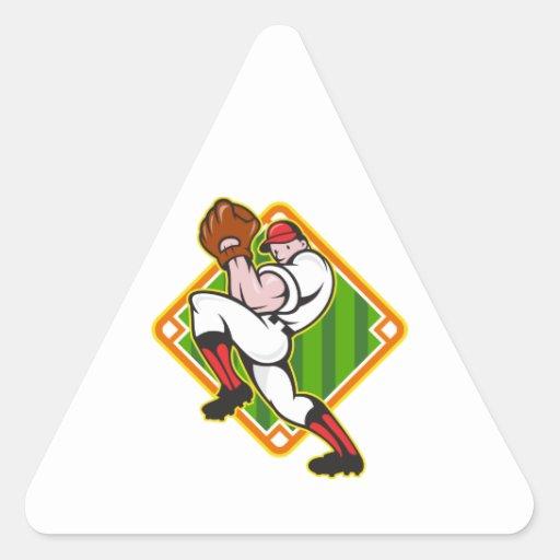 Diamante del cabeceo del jugador de la jarra del colcomanias triangulo