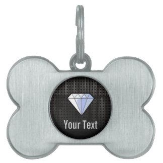 Diamante del Grunge Placa Mascota