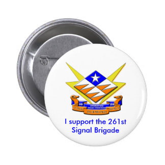 Diamante del grupo de trabajo, apoyo el 261stSigna Pin Redondo 5 Cm