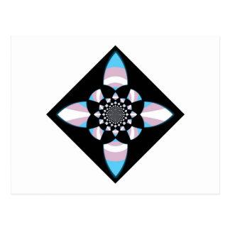Diamante del orgullo del transexual tarjetas postales
