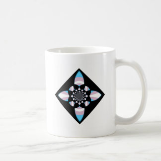 Diamante del orgullo del transexual taza de café