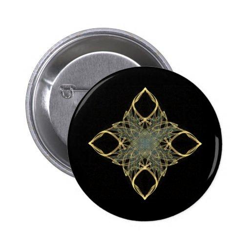 diamante del oro de la mirada del alambre 3D con e Pins