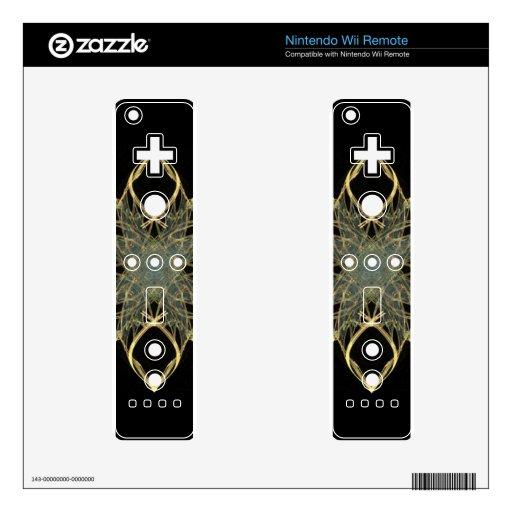 diamante del oro de la mirada del alambre 3D con e Skin Para El Mando Wii