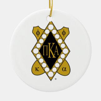 Diamante del oro de PKA Adorno Navideño Redondo De Cerámica