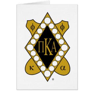 Diamante del oro de PKA Tarjeta De Felicitación