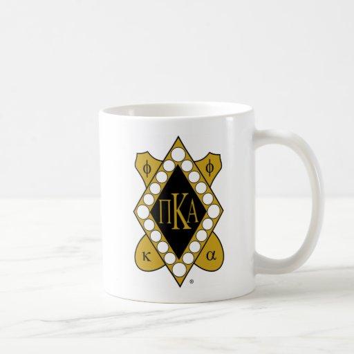 Diamante del oro de PKA Taza Básica Blanca