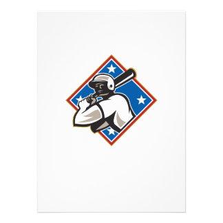Diamante del palo del bateador del béisbol retro invitacion personalizada