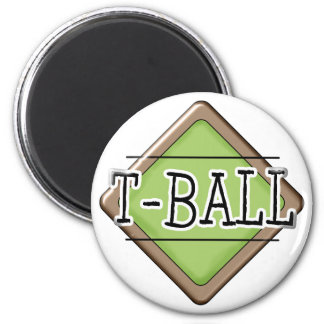 Diamante del T-Ball Imán Redondo 5 Cm