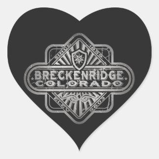 Diamante del vintage de Breckenridge Pegatina En Forma De Corazón