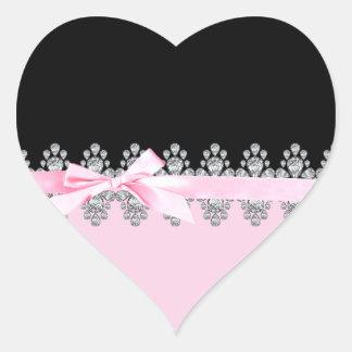 Diamante Delilah Pegatina Corazón Personalizadas