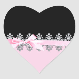 Diamante Delilah Pegatina En Forma De Corazón