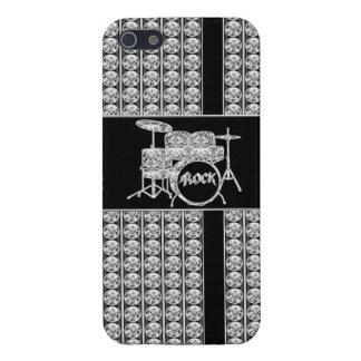 Diamante Drumset de la estrella del rock iPhone 5 Protector