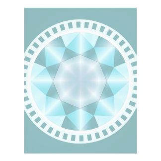Diamante elegante decorativo membrete personalizado