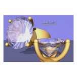 Diamante en 3D II (impresión) Poster