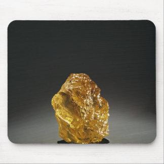 Diamante en bruto amarillo tapetes de ratones