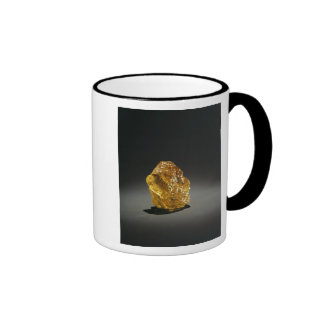 Diamante en bruto amarillo taza de café