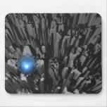 Diamante en bruto azul alfombrilla de raton