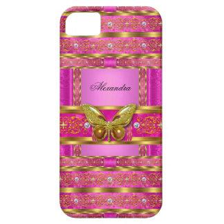 Diamante exótico de la mariposa de las rosas iPhone 5 fundas
