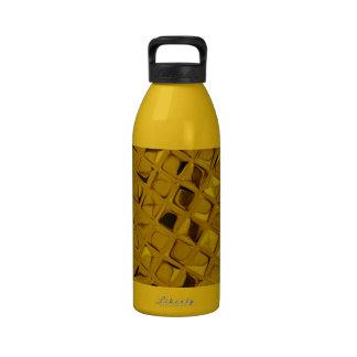 Diamante femenino metálico brillante del oro amari botellas de beber