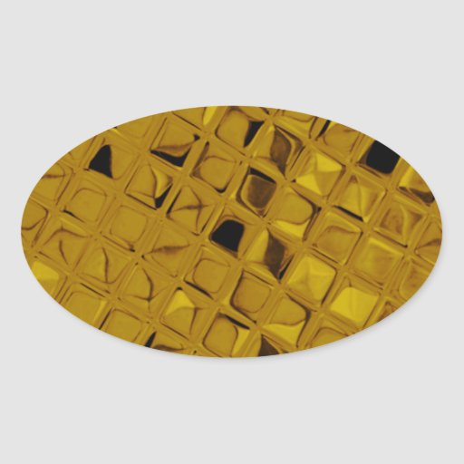 Diamante femenino metálico brillante del oro calcomania de oval