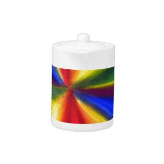 Diamante flotante del color del arco iris