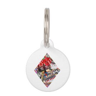 Diamante - forma del naipe de Las Vegas Placas De Mascota